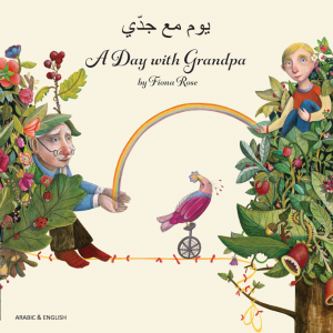 A Day with Grandpa Arabic and English